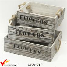 Aged Distressed Vintage Planter Wooden Shabby Garden Box