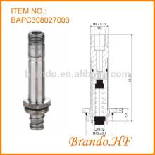 24V DC Tubo de acero inoxidable normalmente cerrado Válvula solenoide neumática Núcleo móvil