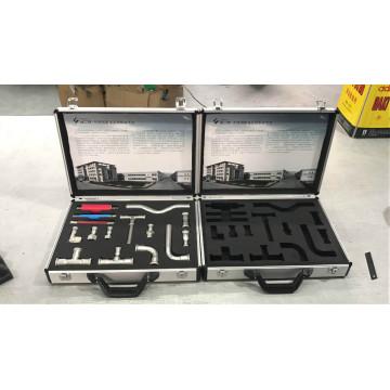Estuche de aluminio para herramientas manuales con espuma recortada