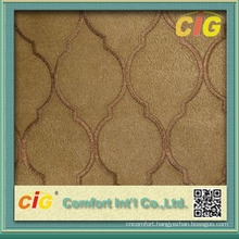 Fashion Embroidery Bonded Twill Suede Fabric