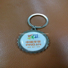 Promotional Bottle Cap Shaped Opener Keyrings