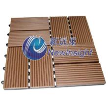 300X300 WPC DIY Pavimentação Azulejo Interlocking Composto Deck Azulejos para Varanda Veranda Corredor Garden WPC Board com CE SGS Fsc ISO plástico Decking Floor de madeira
