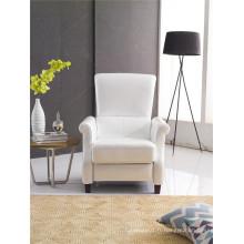 Chaise de bras de design de couleur blanche de poussière de couleur blanche