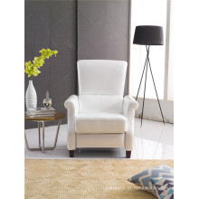 White Color Push Back America Design Arm Chair
