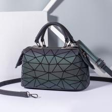 Bolsas luminosas geométricas de couro PU da moda