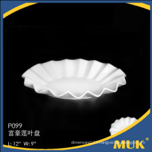 bulk buy from china white fine hotel porcelain plate