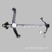 Trailer Axle Set with Leaf Spring, Bolts and Hubs