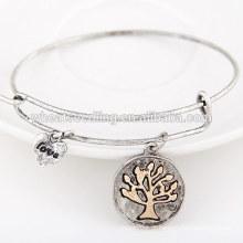 Novos produtos 2016 moda jóias liga pendant bracelete de metal base
