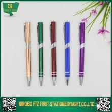 Алюминиевая тонкая рекламная ручка бесплатно