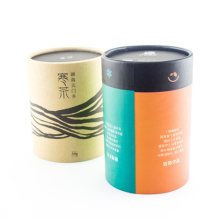 Round Eco-Friendly Tea Coffee Package Gift Paper Box