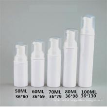 50ml 60ml 70ml 80ml 100ml plastic foam pump bottle cosmetic packaging