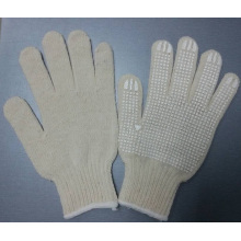 Cotton Gloves Dotted Silicone Rubber Coated Gloves Safety Work Glove