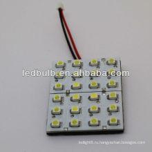24 шт. 3528 SMD светодиодный автомобильный верхний свет купол автомобиля свет