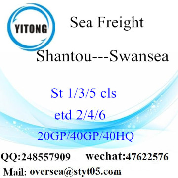 Shantou Port Sea Freight Shipping Para Swansea