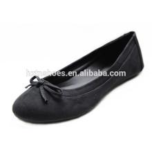 Neuer Entwurfs-niedriger Preisdame-Schuh Bowknot handgemachte schwarze Ballett-Frauen-Ebenen Großverkauf