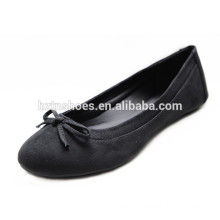New Design Low Price lady shoe bowknot handmade Black Ballet Women Flats Wholesale