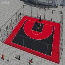 PP tragbares temporäres Basketball-Sportplatzmaterial