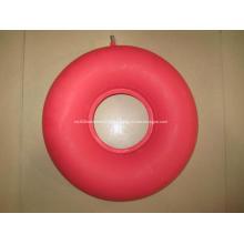 Almofada de ar de borracha médica redonda vermelha