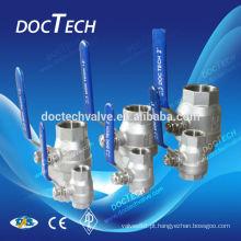 """DN15 1/2"""", rosca luz tipo dupla válvula de esfera com bom preço, venda, do fabricante de China quente"""