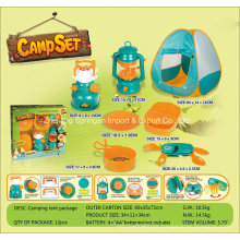 Boutique Playhouse Plastic Toy-Camping Set with 7 Accessories
