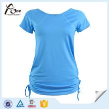 T-shirt da forma Desgaste respirável da ioga das meninas