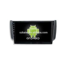 HOT! Dvd do carro com link espelho / DVR / TPMS / OBD2 para 10.1 polegada tela de toque completo 4.4 sistema Android SYLPHY