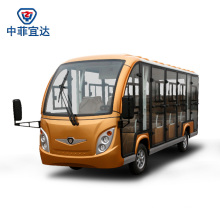 14 Seater Sightseeing Classic Shuttle Intelligent Pulse Charger Enclosed Electric Sightseeing Car with Ce SGS Certificate Aluminum Material Never Rust
