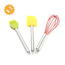 Sistema de herramientas vendedor caliente de la hornada de los materiales de los pasteles del silicón de la alta calidad 3pcs