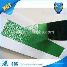 Fita de selagem à prova de proteção contra a fabricação de fita de segurança na China, ZOLO