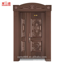 Carved interior steel door with roman pillar