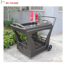 C-2016 Rattan Furniture Modern Design Handweaving Dining Handcart
