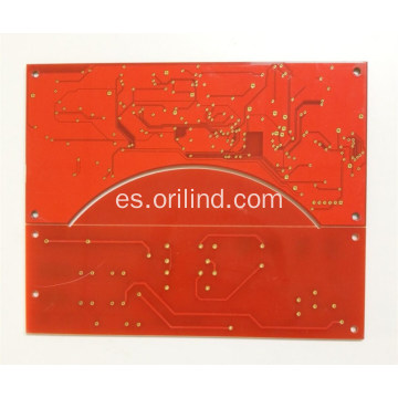 Placa de circuito de color rojo