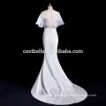 V-cuello Guangzhou vestido de novia exótica de la boda vestido de raso