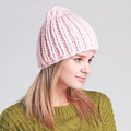 100% Iceland Blend Yarn Beanie Made Knitting Hat
