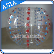 Red Color Dots Bubble Soccer Balls
