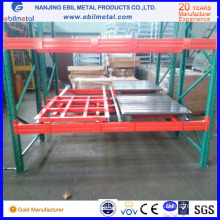 2016 New Style Warehouse / Factory Storage Metallic Push Back Rack/Shelf