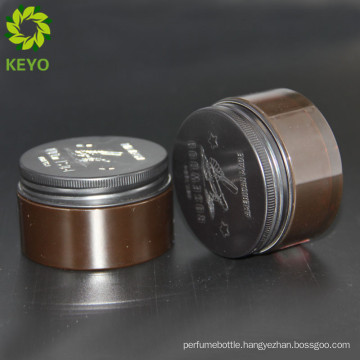 Cylinder container high quality plastic packaging jar with aluminum screw cap