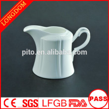 2015 New Design factory direct wholesale white ceramic milk jug