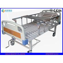 Acero inoxidable de manivela manual Hospital / cama médica