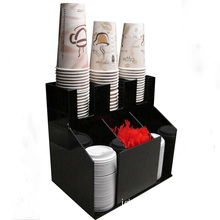 Black Acrylic Coffee Condiment Organizer