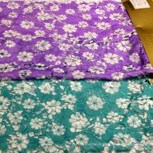 Textile en dentelle imprimé en tissu décoratif