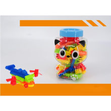 74PCS in Funny Cat Jar Building Block