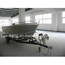Barco de alumínio do casco do salvamento V do 4.25m