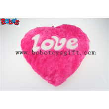 Pillow Case Plush Stuffed Hot Pink Heart Soft Cushion with Love Words