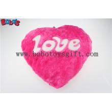 Almofada Plush Stuffed Hot Pink Coração almofada macia com palavras de amor