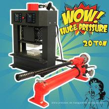 20 Tonnen hydraulische Luft Kompressor kostenlose manuelle Doppel-Heizplatten Kolophonium Pressmaschine