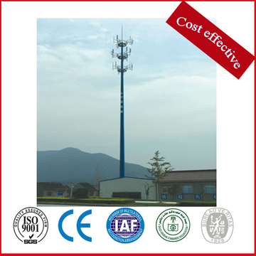 Steel Hot Dip Galvanized Microwave Communication Pole