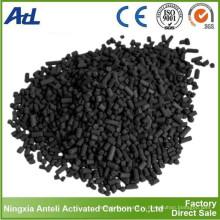 цилиндрической формы паровой активированный уголь с диаметром 4мм для очистки воздуха