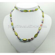 Mode Hämatit Wrap mit grüner Perle Shell
