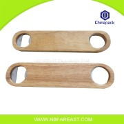 Bamboo wooden beer bottle opener with 2 holes